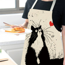 Фартуки кухонные с принтом кошки для мужчин и женщин 100 шт
