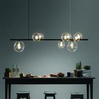 Nordic Magische Bohnen Glas Ball Esszimmer LED Kronleuchter Kaffee Shop Bar Hanglamp Schlafzimmer Dekor Hängenden Leuchten