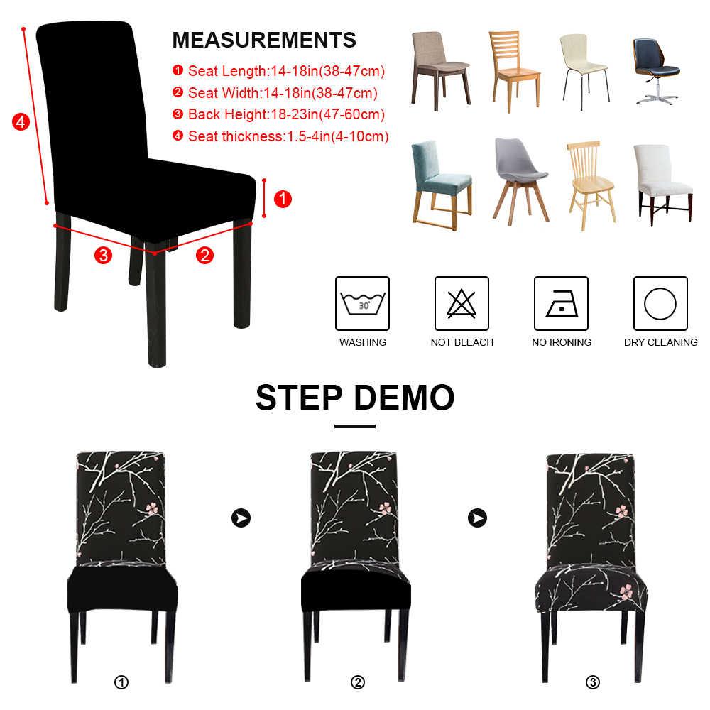 스판덱스 탄성 인쇄 다이닝 의자 슬리퍼 현대 이동식 안티-더러운 주방 좌석 케이스 스트레치 의자 커버 연회