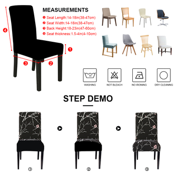 Modern Removable Anti-Dirty Dining Chair Slipcover 9 Chair And Sofa Covers