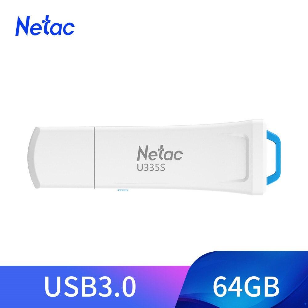 Netac USB Escrever Proteger Flash Drive Físico Switcher 64GB Pendrive USB 3.0 Memory Stick pen drive de Disco em Chave cartão de memória para o Telefone
