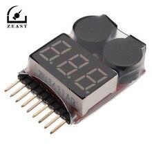 Монитор напряжения 1-8S Lipo/li-ion/Fe напряжение батареи 2в1 тестер низкого напряжения Звуковой сигнал 3,7-30 в 3,9 см x 2,4 см x 0,9 см