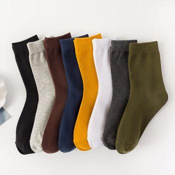 Men's Cotton Socks New Styles Harajuku Male Casual Solid Color Breathable Sock Autumn Winter Man Warm Socks Unisex Sox