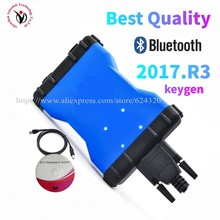 NEW Colour VD DS150E CDP vd tcs cdp for delphis with usb bluetooth obd2 scanner tool 2017.R3 2016.R0 keygen car truck diagnostic
