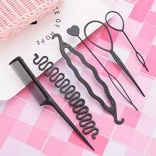 Newstyle 6pcs/set Hairstyle Braiding Tools Pull-through Hair