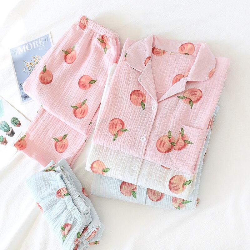 Pajamas Sets Kimono Robes Yukata Sleepwear Suits 100% Cotton Nightgown Maternity Nursing Bathrobe Leisure Wear Homewear Lounge
