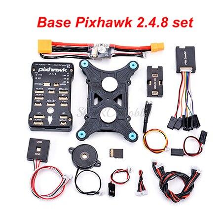 Pixhawk PX4 PIX 2.4.8 32 бит Контроллер полета M8N gps Minim OSD PM переключатель безопасности зуммер PPM IEC RGB 4G SD 433/915 Телеметрия - Цвет: Base Pixhawk set