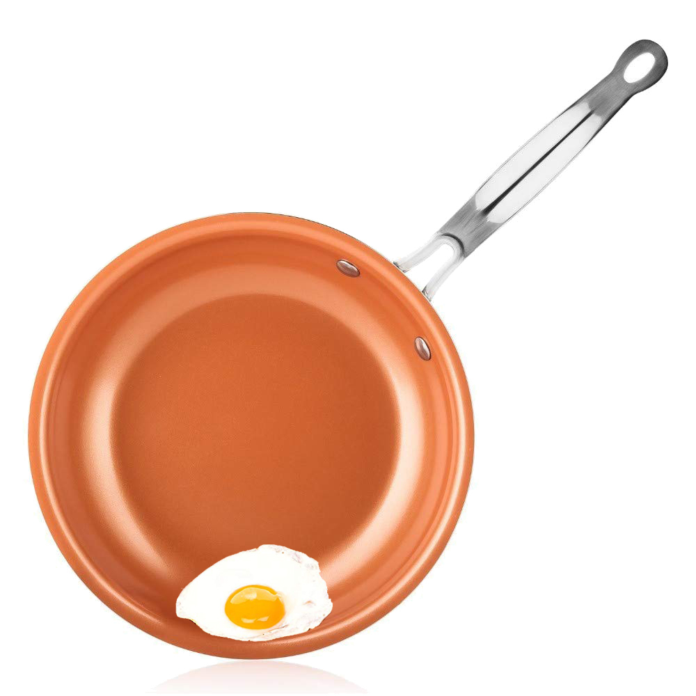Copper Chef Frying Pan Induction Non-Stick Ceramic Coated Fry Pan Aluminum Cooking Frying Pan For Eggs Cookware  Pans  Frying