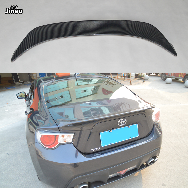For <font><b>Toyota</b></font> 86 2012-2015 TRD style <font><b>Carbon</b></font> fiber rear trunk spoiler lip For Scion <font><b>GT86</b></font> For Subaru BRZ Car styling back wing image