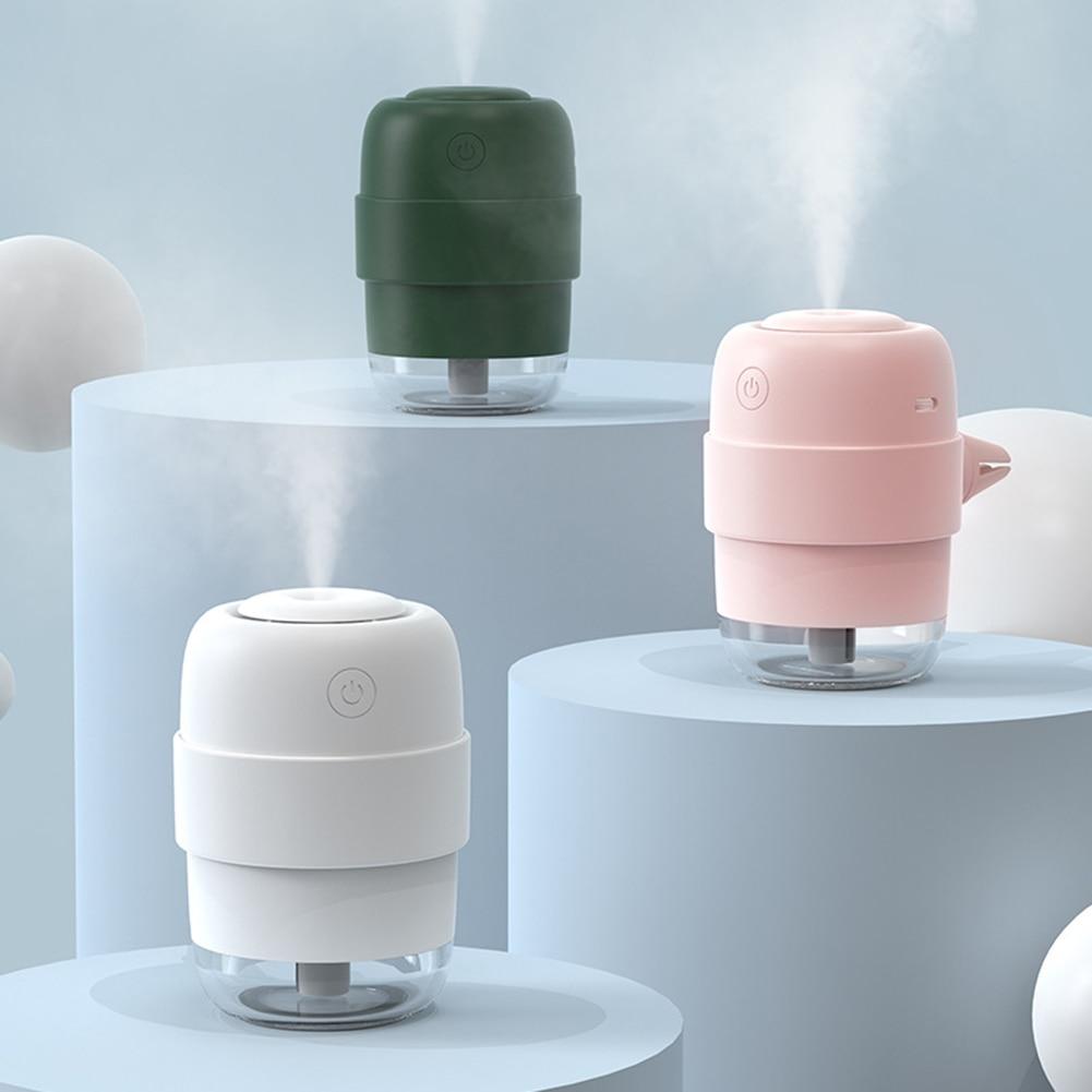 USB Car Humidifier Mini LED Night Light Air Freshener Portable Essential Oil Aroma Diffuser Mist Maker Sprayer for Home