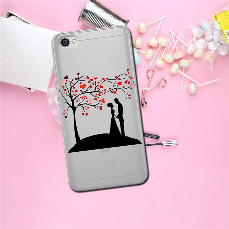 Flower luxury For xiaomi Redmi Mi 8 6 CC9 A2 Lite 5X 6X A1 6A 4X 4A 5 9 Plus Note 4 5A Prime Pro Cover Case Coque Etui funda in Half wrapped Cases from Cellphones Telecommunications