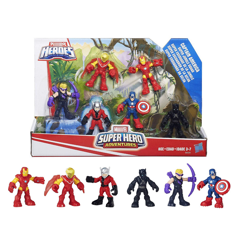 Marvel Super Hero Adventures Captain America Super Jungle Squad