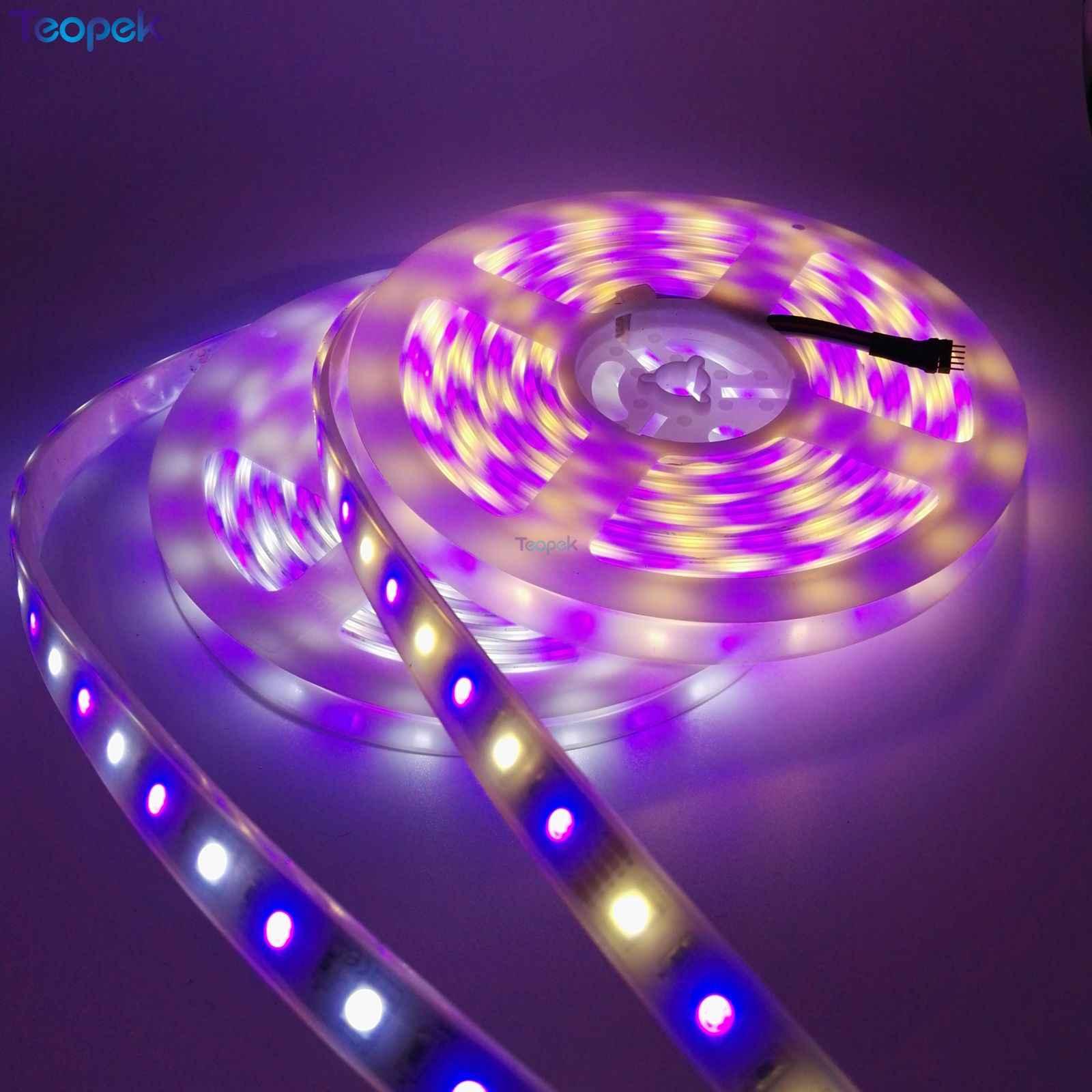 Tira de luces LED 5050, 60 LEDs/m, cinta de iluminación de decoración LED RGB RGBW RGB CCT Blanco/blanco cálido/azul/verde/rojo 5 m/lote 12V