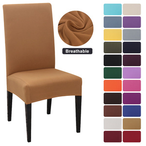 1/2/4/6/8Pcs Solid Color Chair Cover Spandex Stretch Elastic Slipcovers Chair Covers For Dining Room Banquet Hotel Kitchen