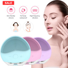 Mini Usb Elektrische Gezicht Facial Cleansing Brush Foreoing Siliconen Sonic Cleaner Deep Pore Cleaning Waterdichte Huid Massage(China)