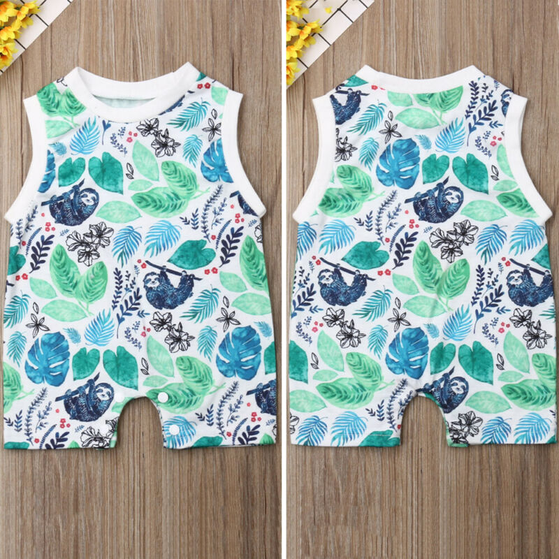 Newborn Kids Baby Girl Boy Cartoon Romper Bodysuit Outfit Casual Summer Clothes in Rompers from Mother Kids