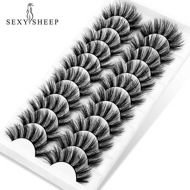 SEXYSHEEP 5/10 pair 3D Faux Mink Lashes Natural length Ru False Eyelashes Volume Fake Lashes Makeup Extension Eyelashes 5
