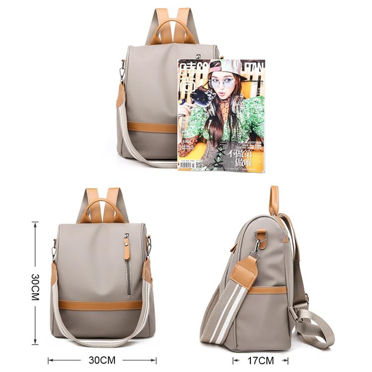 H7bb42504293f4fe39c3976bd50924087J Anti-theft women backpacks ladies large capacity backpack high quality bagpack waterproof Oxford women backpack sac a dos