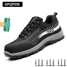 Safety Shoes Summer Breathable Anti-static Work Boots Outdoor Casual Anti-Puncture Steel Toe Non-slip Wear-resistant Men's Boot цена 2017