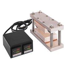 3*7 inç Rosin basın plakası enstrüman ile çerçeve seti Max 20 tonluk presleme çift plaka sıcaklık kontrol kutusu için balmumu yağı çıkarma