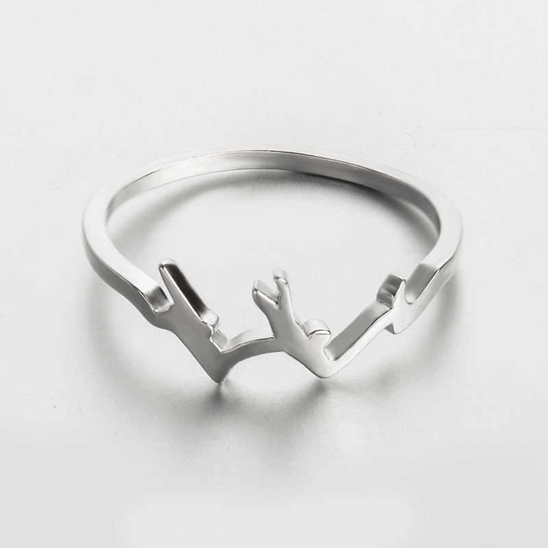 Skute простые креативные горные образные перстни модные парные кольца для женщин Серебряный Черный цвет Anillos мужские ювелирные изделия