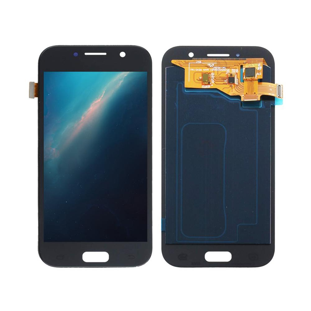 100% Super Amoled For <font><b>SAMSUNG</b></font> GALAXY <font><b>A5</b></font> 2017 <font><b>A520</b></font> A520F A520K LCD Display with Touch Screen Digitizer Assembly image