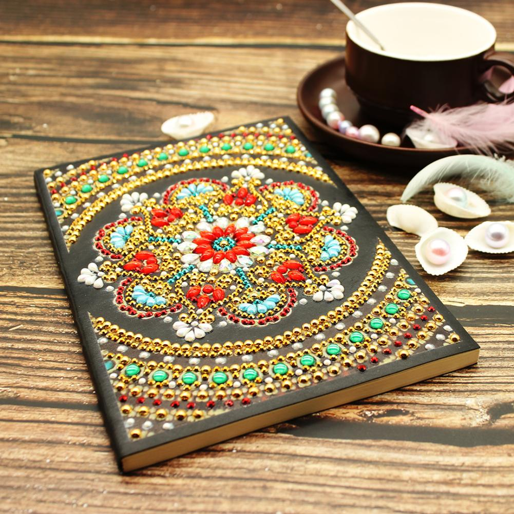 Flower DIY Diamond Painting Notebook A5 Note Memo Pad Diary Journal Book