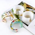 1 шт в форме браслета силиконовые формы УФ смолы ювелирные украшения аксессуары пресс-форм полуоткрытого типа браслет пресс-формы