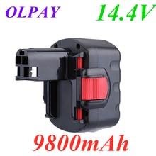 Para bosch 14.4v 9800mah ni-cd bateria de ferramenta elétrica recarregável para bosch bat038 15614 1661 1661k 22614 23614 32614 33614