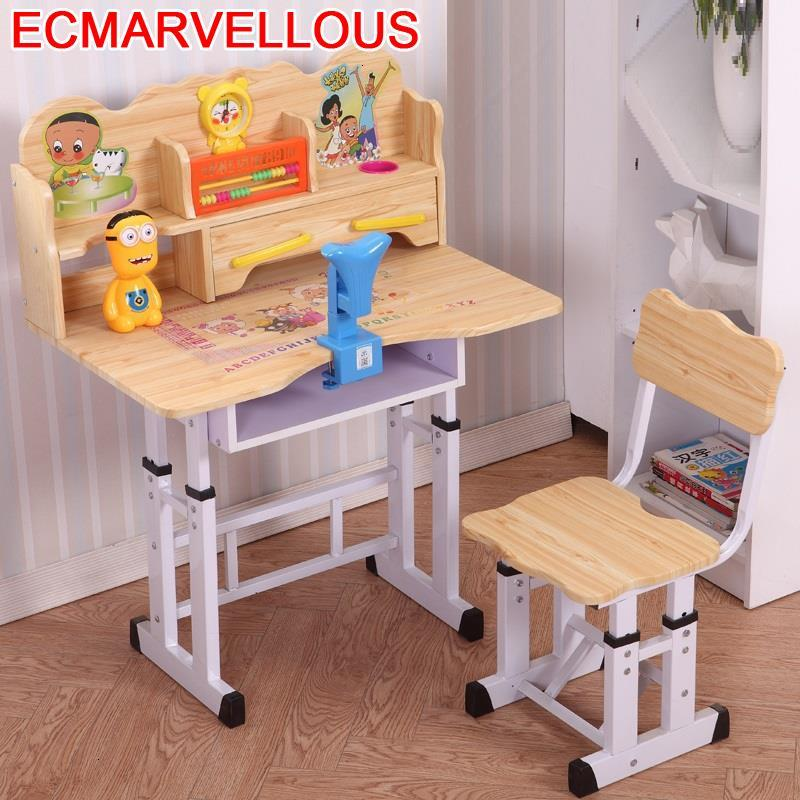 Children And Chair Play Baby Silla Y Infantiles Tavolino Bambini Adjustable Bureau Enfant For Mesa Infantil Kids Study Table