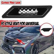 Pare-choc avant de voiture universel, noir brillant, Style FC, pour Honda, Civic 2016 – 2021, Audi A4 B8, VW, Golf