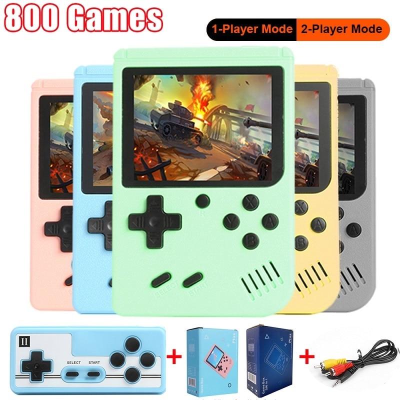 Mini Console de jeux vidéo Portable, jouet pour enfants, 800 jeux électroniques