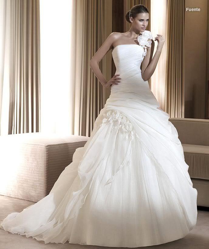 Free Shipping 2018 Handmade Flower Famous Vestido De Noiva One Shoulder Pretty Plus Size Bridal Gown Mother Of The Bride Dresses