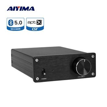 AIYIMA APTX Bluetooth 5.0 QCC3008 Amplificador Audio TPA3255 325Wx2 Class D Hifi Power Sound Speaker Amplifier HIY Home Theater aiyima aptx qcc3008 bluetooth 5 0 amplificador audio amp tpa3116 hifi power amplifier 50wx2 100w 2 1 channel subwoofer amplifier