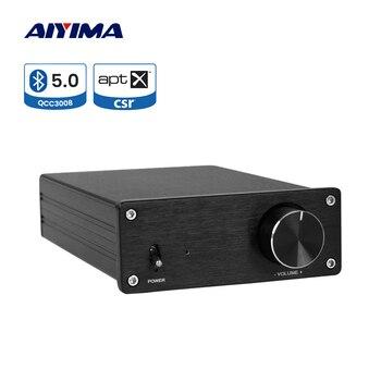 AIYIMA APTX QCC3008 Bluetooth Amplificador Audio Amp TPA3255 325Wx2 Class D Hifi Power Amplifier HIY Sound Speaker Home Theater aiyima aptx qcc3008 bluetooth 5 0 amplificador audio amp tpa3116 hifi power amplifier 50wx2 100w 2 1 channel subwoofer amplifier