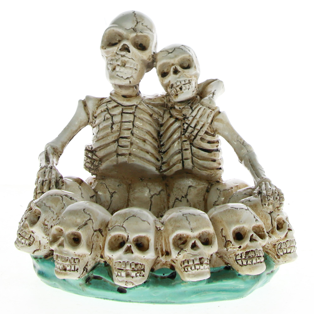 Skull Couple Lovers Ashtray Skeleton Skull Ash Tray Ring Bowl Lover Never Dies For Lovers Smokers Collectables Table Ornament