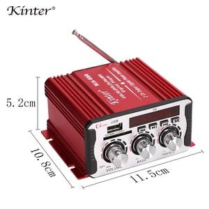 Image 5 - Kinter MA 600 مكبر صوت صغير الحجم الصوت مع راديو FM 2CH بلوتوث مكبرات الصوت DC12V SD USB المدخلات اللعب ستيريو الصوت سوبر باس