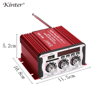 Image 5 - Kinter MA 600 Mini Amplifier Audio with FM Radio 2CH Bluetooth Amplifiers DC12V SD USB Input Play Stereo Sound Super Bass