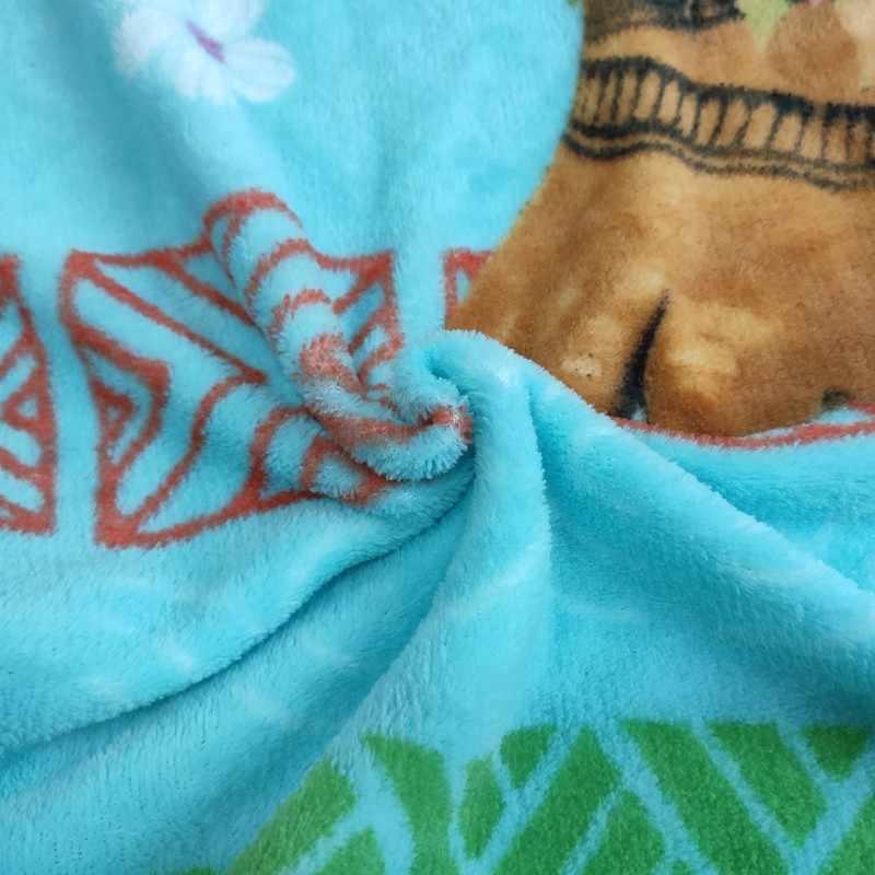 Couverture en peluche Moana et Maui Disney | 117x152cm, sur lit, berceau et canapé, pour bébés enfants filles garçons, cadeau d'anniversaire, Discount!