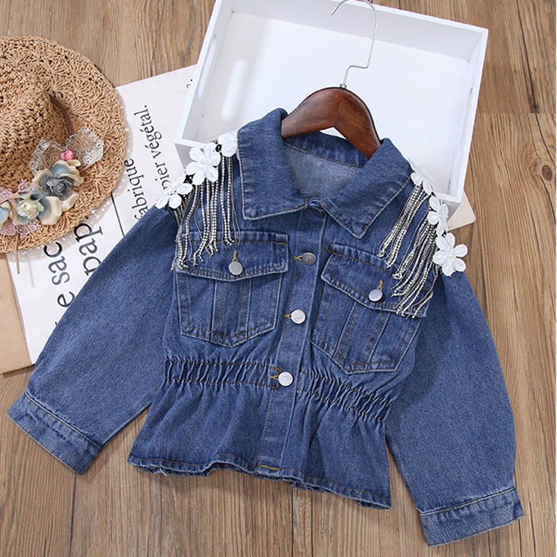 H7bb538725f5b4cb8bef15fffe4cef499B - NEW KId's Jean Jacket for Girls Cute Unicorn Coats Denim Jacket for Children Girls Clothes Jean Jackets For Toddler & Kids