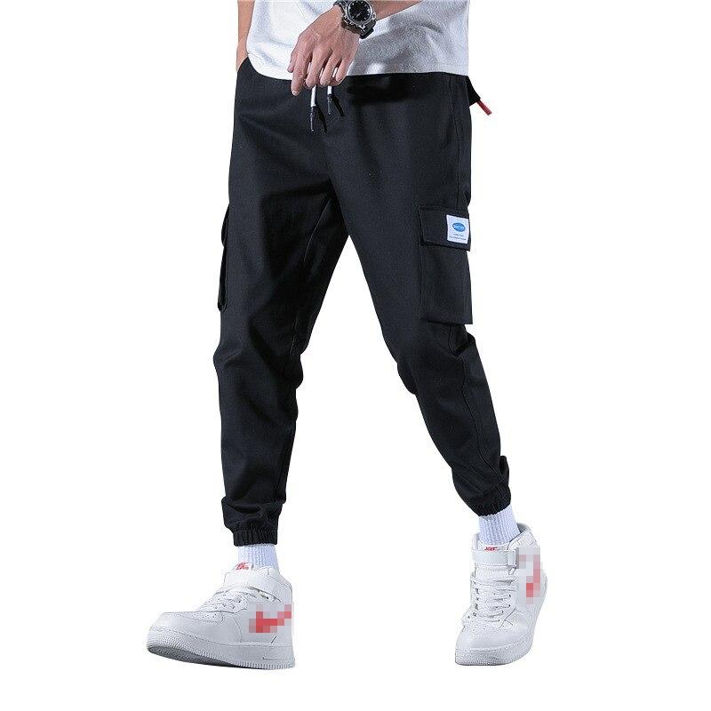 Men Side Pocket Harem Hip Pop Pants Trousers Streetwear Sweatpants Hombre Male Casual Fashion Cargo Pants Men Overalls New