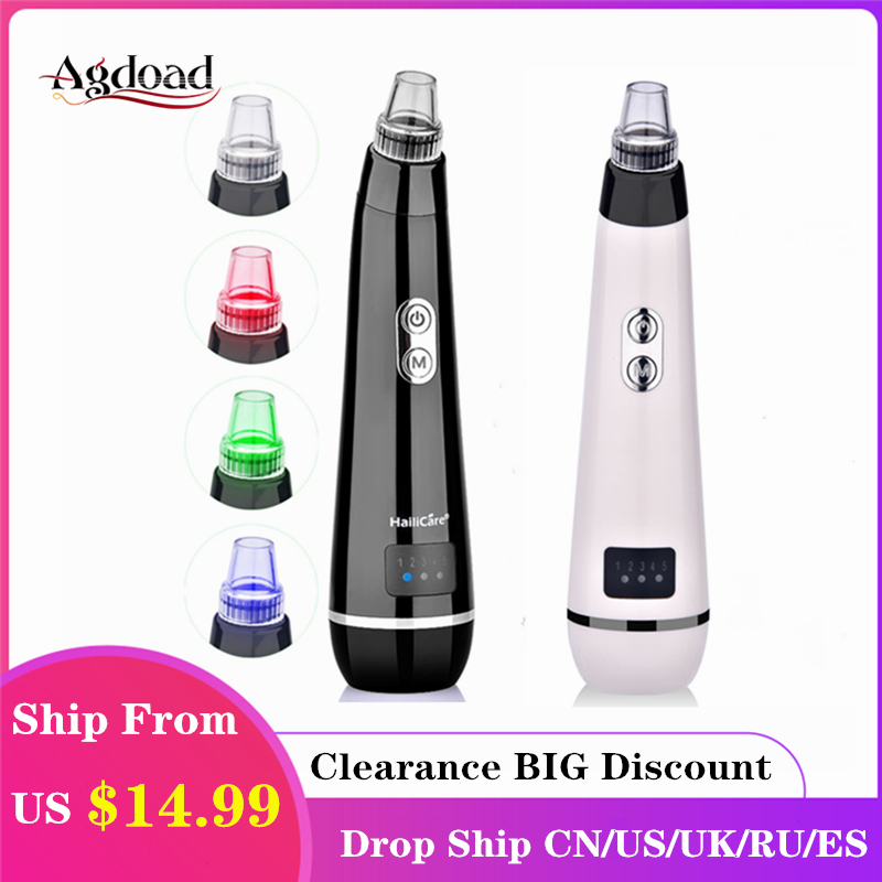 Vacuum Blackhead Remover Spot Pore Nose Cleaner Skin Care Tools Remover Acne Suction Whiteheads Beauty Machine Face Cleaning