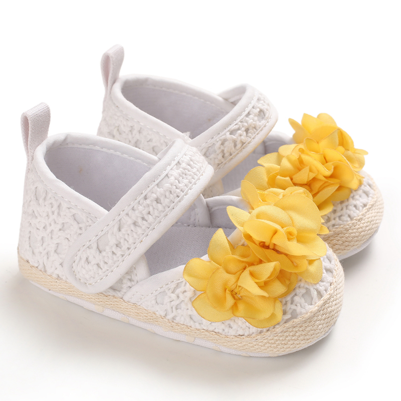 Party Toddler Soft Soled Walking Shoes Baby Girl Shoes Print Floral Infant Princess Shoes Anti-Slip Casual Sneakers