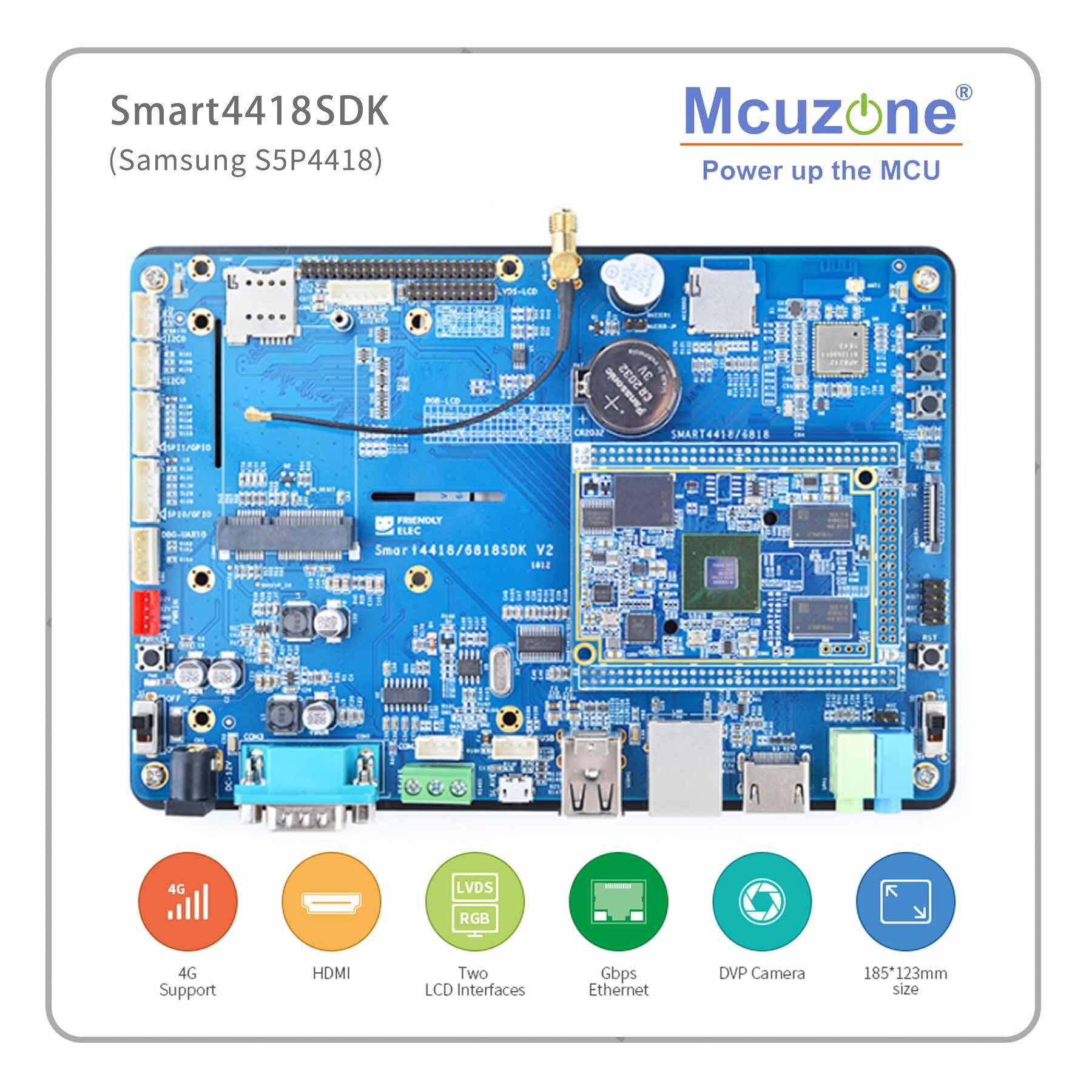 Smart4418SDK Demo- Board S5P4418 1GB DDR3 8GB EMMC Friendlyarm 4G  7'TFT LCD 800*480 800*1280 Capacitive Screen HDMI