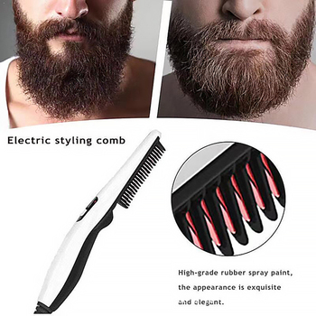 Quick Beard Straightener Hair Comb Multifunctional Hair For Man Curler Show Cap Tool Electric Heating Hair Brush