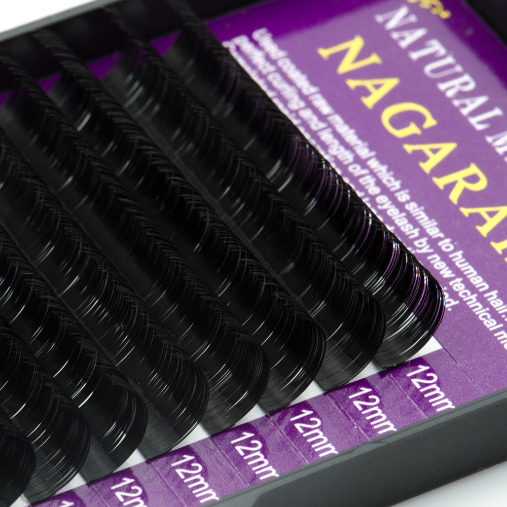 Image 5 - NAGARAKU All Size 5 Cases B C D Curl Individual Eyelashes Faux Mink Eyelashes Extension Artificial Fake False Eyelashes-in False Eyelashes from Beauty & Health