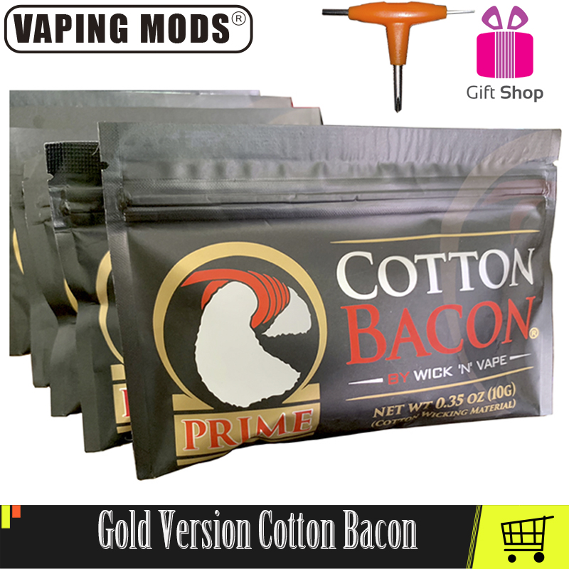 Cotton Bacon Vape Cotton Gold Version Wick Cotton Bacon For RDA RBA Atomizer E Cigarettes Vape Accessories image