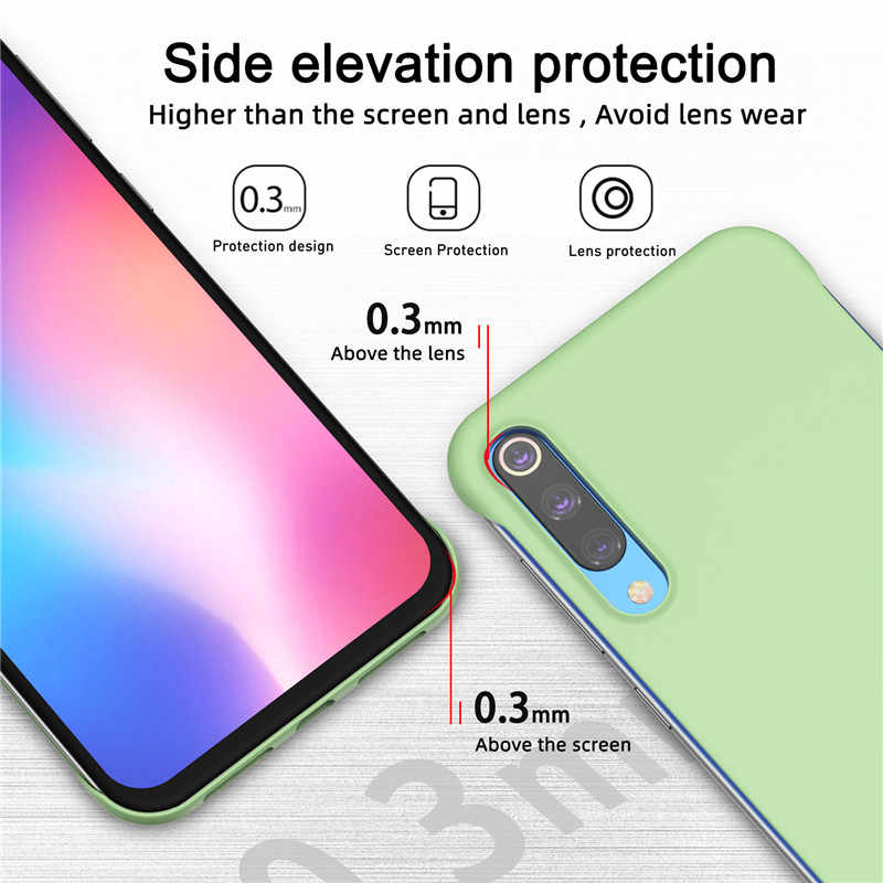 Caso para XiaoMi Mi 9 Lite CC9 Frameless 9T Pro Nota RedMi 7 K20 Pro 7A 6 6A Global versão Doce Casos Rígido PC Matte Voltar Capa