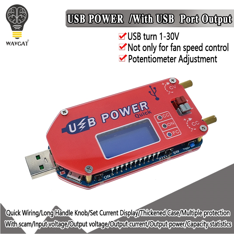1 DP3A display Digital USB ajustável módulo de alimentação DC-30 V 15W QC 2.0 3.0 FCP carga Rápida regulador de potência laboratório de abastecimento