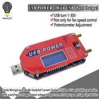 DP3A pantalla Digital USB ajustable módulo de potencia DC 1-30V 15W QC 2,0 3,0 FCP de carga rápida regulador de suministro de energía de laboratorio
